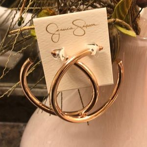 Jessica Simpson Rose Gold Hoops!